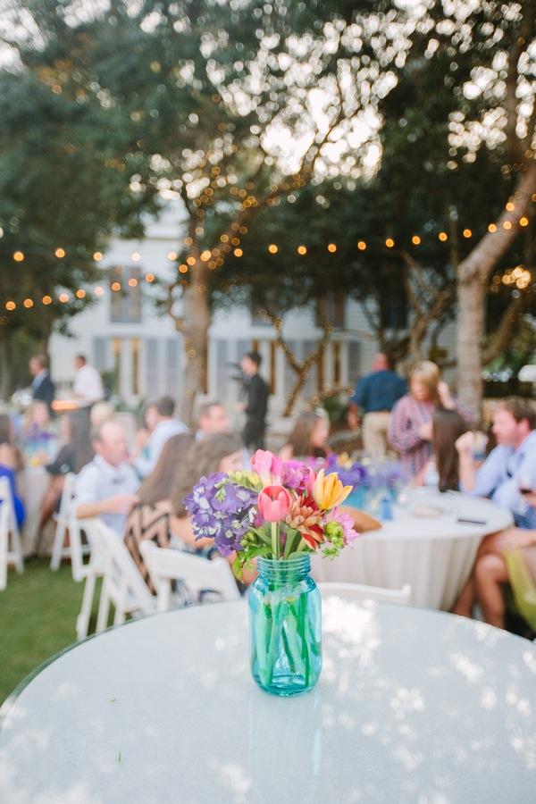 Something Vintage Rustic Blue Mason Jars Wedding Ideas OutOfMyBubble Inspiration Blue Mason Jars Wedding Decor