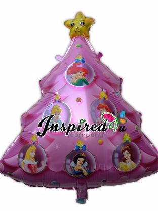 "Picture of 30"" Princess Christmas Tree Disney Super Shape Helium Foil Balloon Party Star"