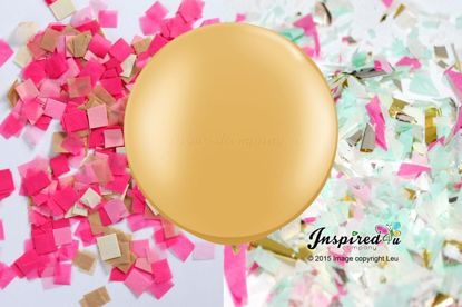 Picture of Gender Reveal Gold Balloon Boy or Girl Baby Shower