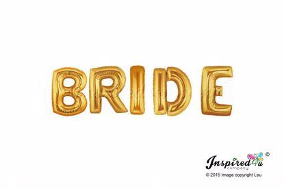Picture of Bride Letters 16 Inch 40 cm Foil Baloons Engagemen