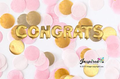 Picture of CONGRATS Letters 16 Inch 40 cm Foil Balloons Prom Wedding