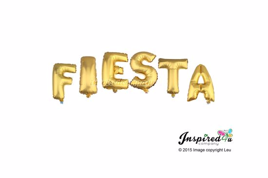 Picture of FIESTA Letters 16 Inch 40 cm Foil Balloons Party Fun Celebration