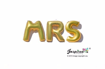 Picture of MRS Diamond Letters 16 Inch 40 cm Foil Balloons Wedding