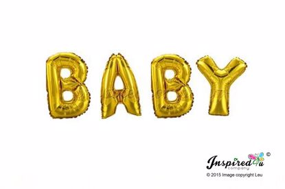 Picture of BABY Letters 16 Inch 40 cm Foil Balloons Birthday
