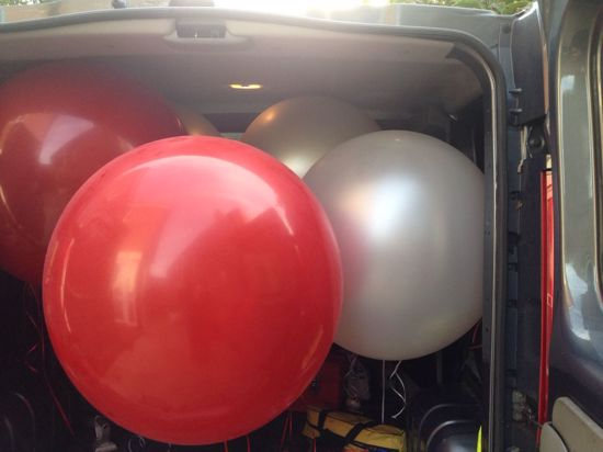 """Picture of Valentine's Huge Giant Red Balloons up to 36"""" Wedding"""