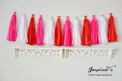 Picture of Valentine's Love Tissue Paper Tassel Garland