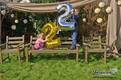 Picture of Birthday Gold Foil Balloon Giant Numbers 40""