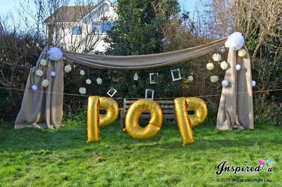 "Picture of POP Letters up to 40"" / 100 cm Mylar Gold Foil Balloons Birthday Baby Shower"