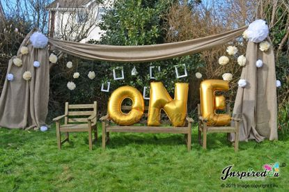 Picture of ONE Letters 40 Inch 100 cm Foil Balloons Birthday Baby Shower