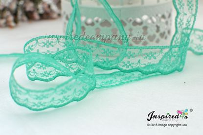 Picture of 2 meters Green 20 mm Lace Wedding DIY