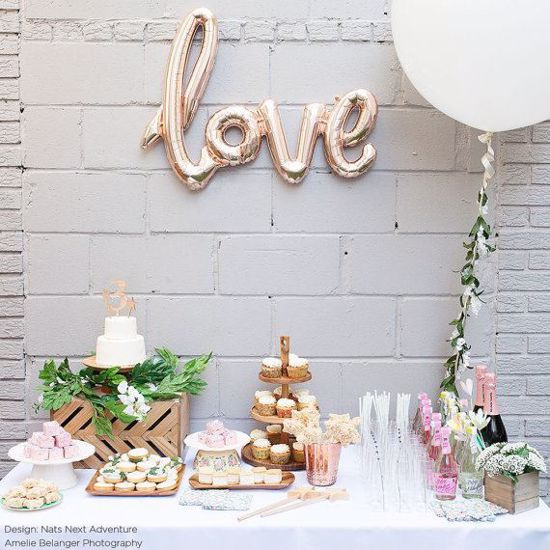 Picture of Giant 42 inch Love Script Balloon Rose