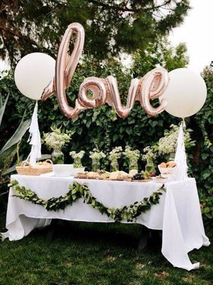 Picture of Rose Love Script Balloon