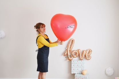 "Picture of HEART Giant High Quality Balloons up to 36 "" inch 3 feet"