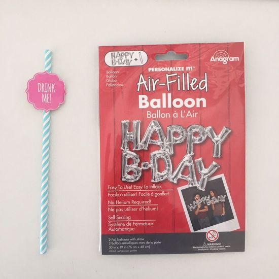 Picture of Script Balloons Party It's Baby Birthday Love