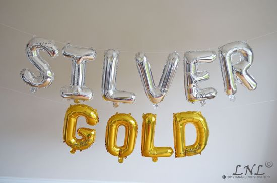 Picture of Bride Team Rose Gold Balloons Letters 16""