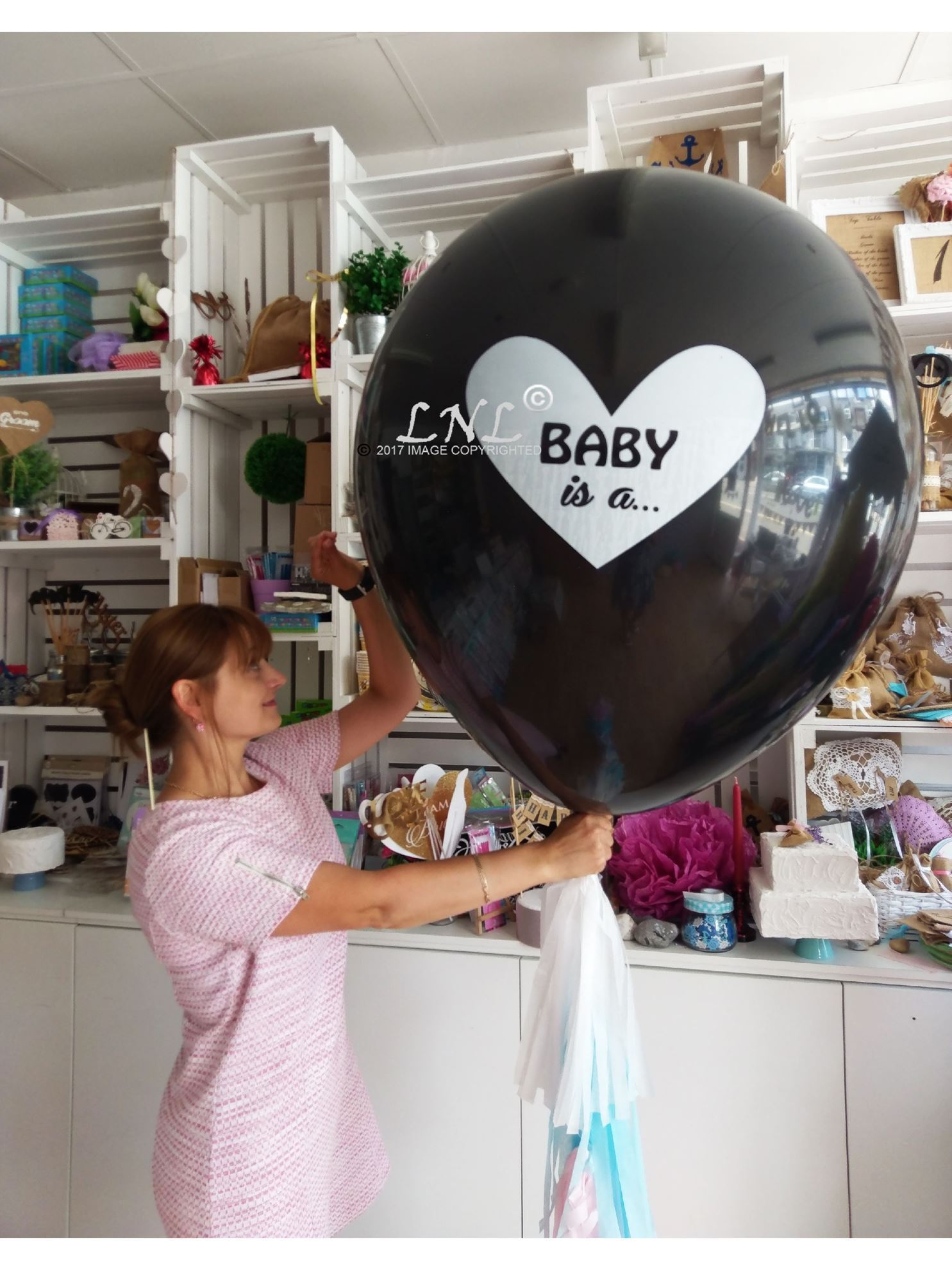 Outofmybubble Baby Is A Gender Reveal Balloons Boy Or