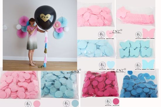 Picture of Its a... Gender Reveal Balloons Boy or Girl Baby Shower Confetti