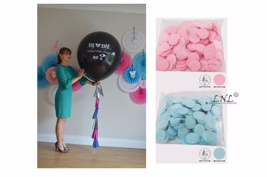 Picture of He or She What will baby be? Gender Reveal Balloon
