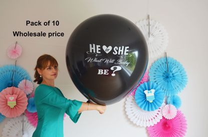 Picture of He Or She What will baby be Gender Reveal Balloons Wholesale