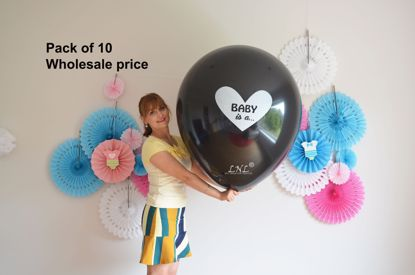 Picture of Gender Reveal Balloons Baby is a... Boy or Girl Balloons Wholesale