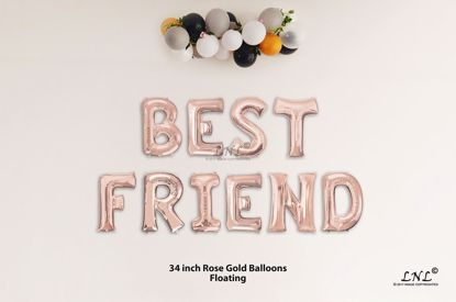 Picture of BEST FRIEND  Rose Gold Letters 34 Inch Foil Balloons