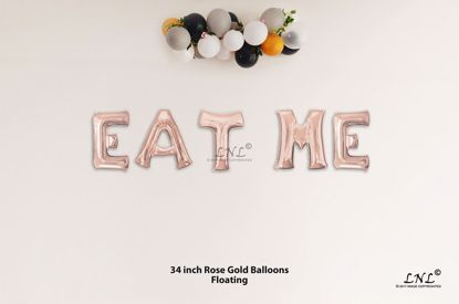 Picture of EAT ME Rose Gold Letters 34 Inch Foil Balloons
