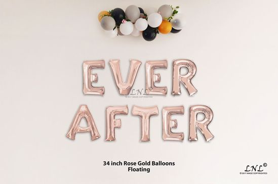 Picture of EVER AFTER Rose Gold Letters 34 Inch Foil Balloons