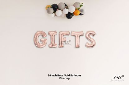 Picture of GIFTS Rose Gold Letters 34 Inch Foil Balloons