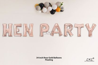 Picture of HEN PARTY Rose Gold Letters 34 Inch Foil Balloons