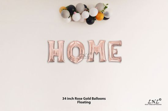 Picture of HOME Rose Gold Letters 34 Inch Foil Balloons