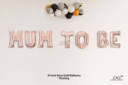 Picture of MUM TO BE Rose Gold Letters 34 Inch Foil Balloons