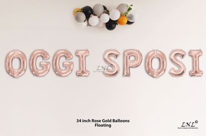 Picture of OGGI SPOSI Rose Gold Letters 34 Inch Foil Balloons