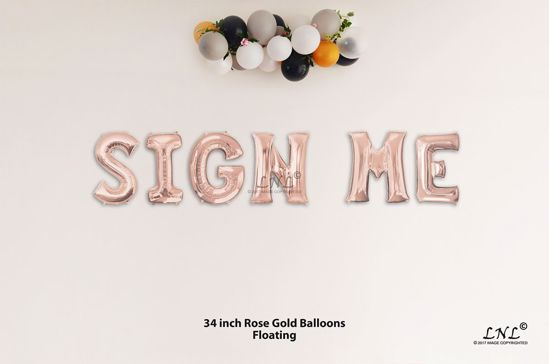 Picture of SIGN ME Rose Gold Letters 34 Inch Foil Balloons