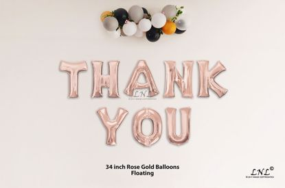 Picture of THANK YOU Rose Gold Letters 34 Inch Foil Balloons