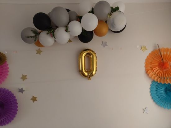 Picture of wow Rose Gold Silver Letter Balloons