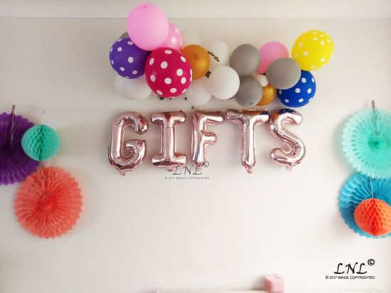 Picture of GIFTS Rose Gold Silver Letter Balloons