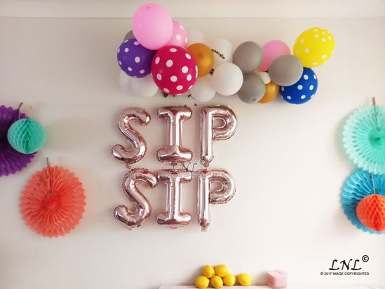 Picture of SIP SIP  Rose Gold Silver Letter Balloons