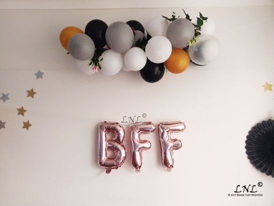 Picture of BFF Rose Gold Silver Letter Balloons