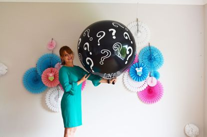 Picture of Question Mark Gender Reveal Balloons Boy or Girl Baby Shower Confetti