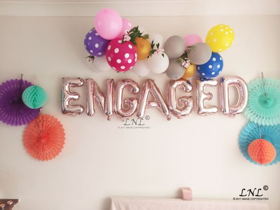 Picture of ENGAGED Balloon Banner Letters