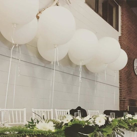 """Picture of White Giant Balloons up to 36"""" Wedding Bride"""