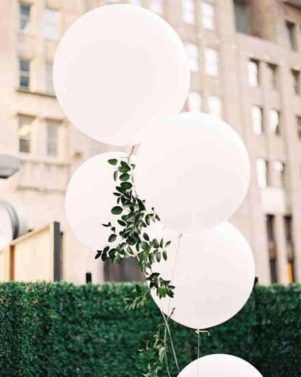 Picture of White Wedding Balloons up to 3 ft Engaged