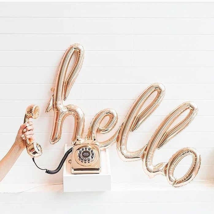 """/""""Hello 30/"""" Rose Gold Script Foil Balloon-Number Balloons Birthday Party"""
