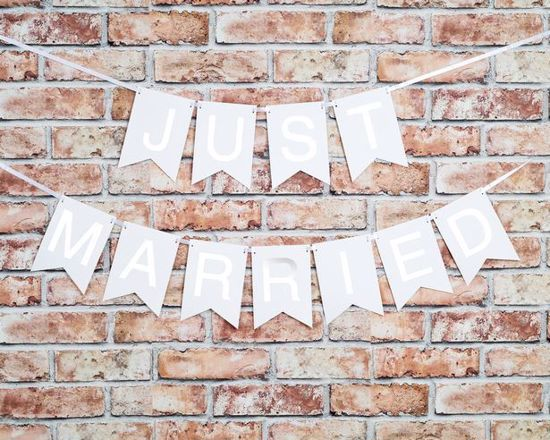Picture of Just married bunting