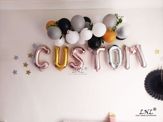 Picture of ROSE GOLD BALLOONS LETTER R