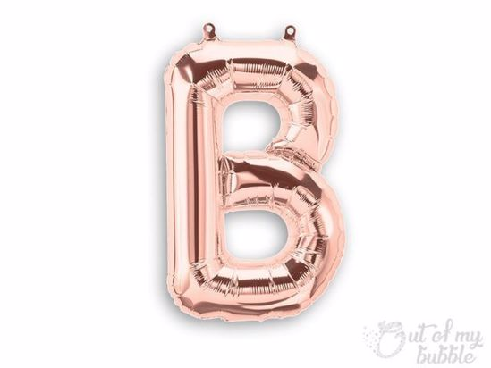 Rose gold foil balloon letter B