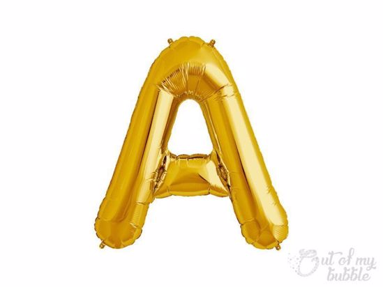 Gold foil balloon letter A