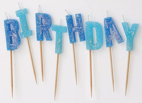 Picture of Happy Birthday Candles Blue