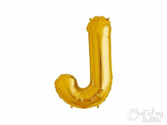 Gold foil balloon letter J