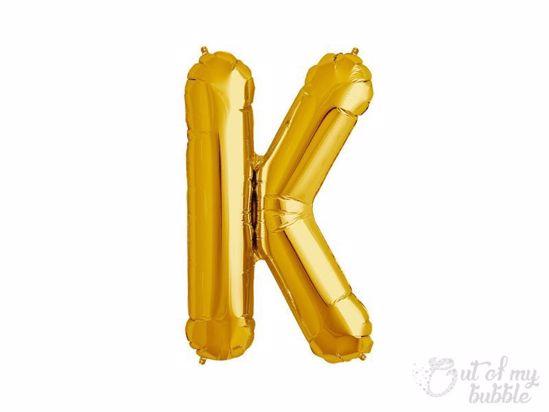 Gold foil balloon letter K